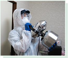 特殊清掃後やゴミ屋敷の片づけ後、どうしても消えない臭いがある場合もご相談ください。